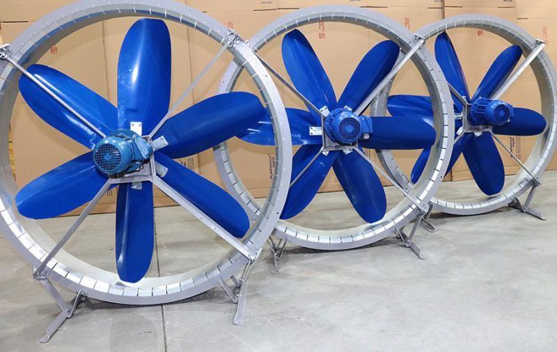 Ventilador para galpão industrial