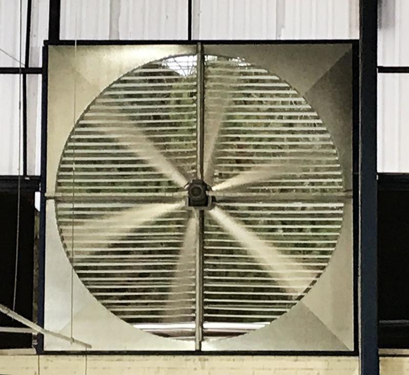 Ventilador de parede industrial